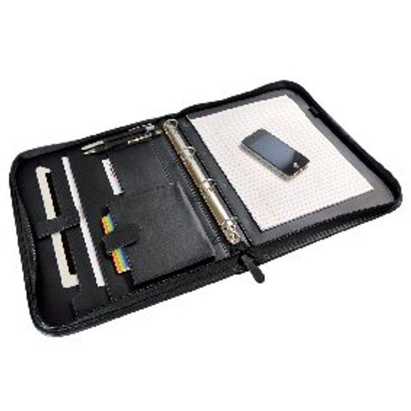 Monolith Folio Case Zipped Black Each 2754