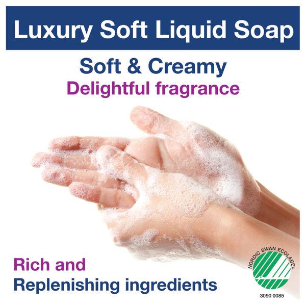 Tork Luxury Soft Liquid Soap 1 Litre (Pack of 6) 420901
