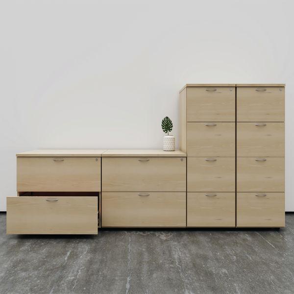 First 1365mm Beech 4 Drawer Filing Cabinet