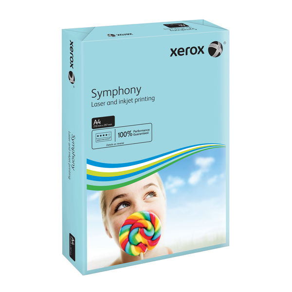 Xerox Symphony Mid Blue A4 Paper, 80gsm - 500 Sheets - 003R93968