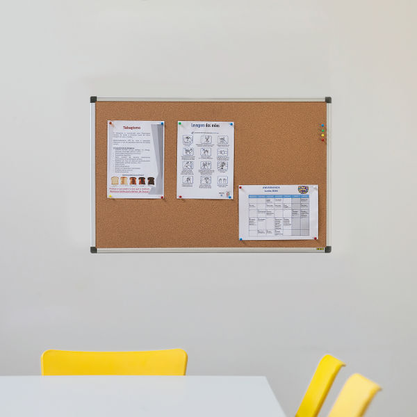 Bi-Office Cork Board Aluminium Frame – CA031170