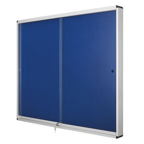 Bi-Office Lockable Internal Display Case 890x625mm Blue VT690107160