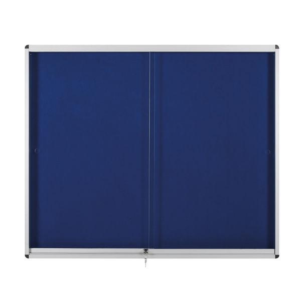 BiOffice Glazed Display Case 1000x700 Blue Felt OEM: VT690107160