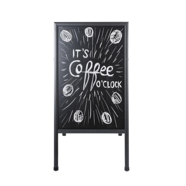 Bi-Office Black 600x1200mm A-Frame Chalkboard - DKT30404042
