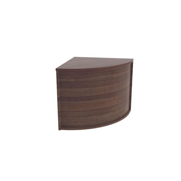 Jemini 800mm Dark Walnut Reception Modular Corner Desk Unit