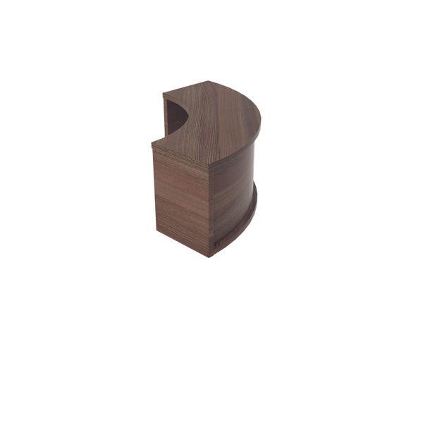 Jemini 800mm Dark Walnut Reception Modular Corner Riser Unit