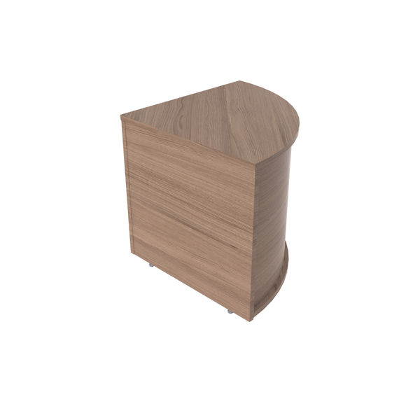 Jemini 800mm Grey Oak Reception Modular Corner Desk Unit