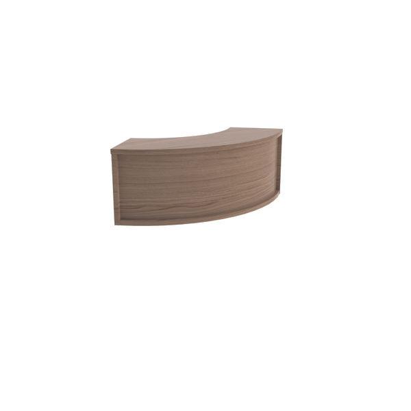 Jemini 800mm Grey Oak Reception Modular Corner Riser Unit