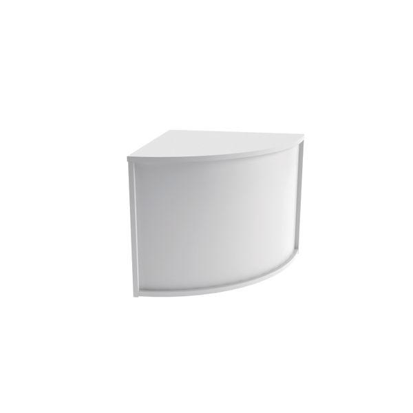 Jemini 800mm White Reception Modular Corner Desk Unit