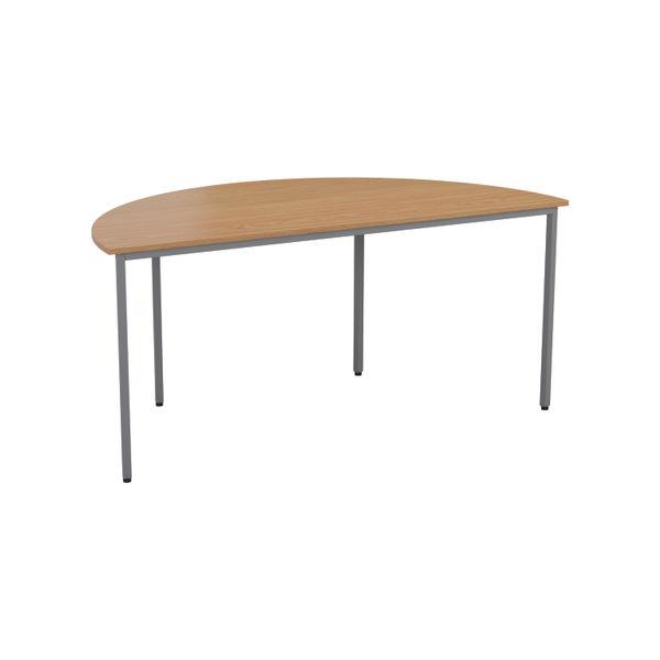 Jemini 1600mm Nova Oak Semi Circular Table