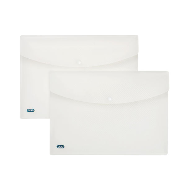 Elba Clear A4 Snap Wallets, Pack of 5 - 100080924