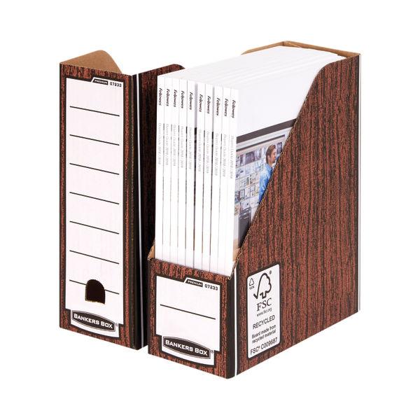 Bankers Box Premium Magazine File-Woodgrain (Pack of 5) 723303