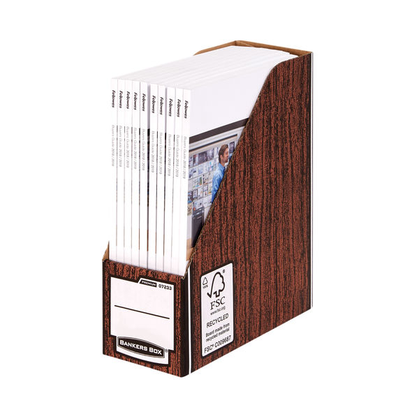 Fellowes Bankers Box Premium A4 Brown Magazine Files, Pack of 10 - 0723301