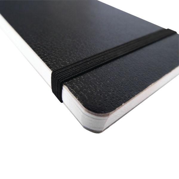 Silvine Black Elastic Band Notebooks Pack of 12- SV40860