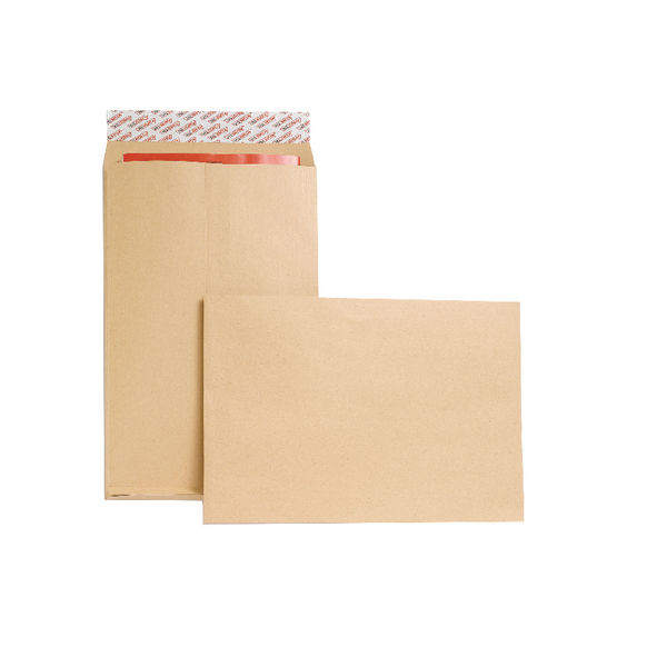 New Guardian Envelope P/Seal 381x254x25mm Manilla (Pack of 100) M27466