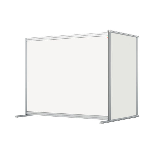 Nobo 1200mm Clear Acrylic Modular Desk Divider Extension