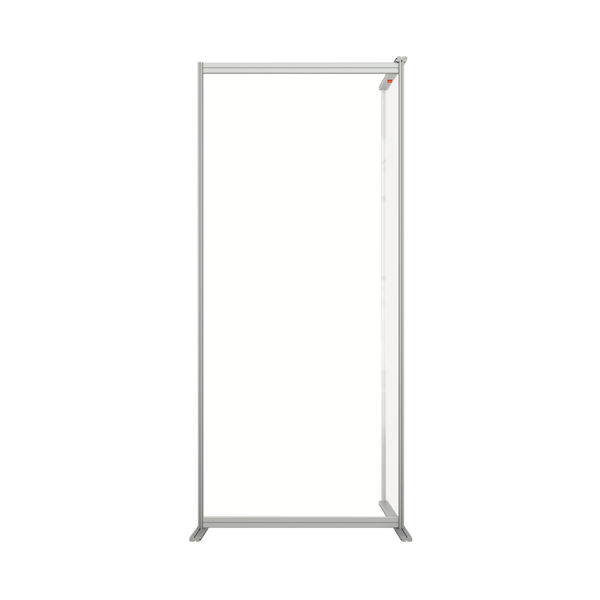 Nobo 800mm Clear Acrylic Modular Room Divider Extension