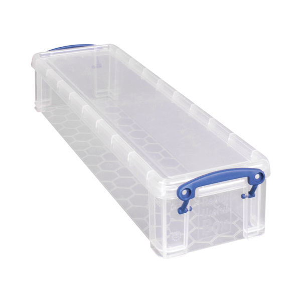 Really Useful 1.5 Litre Clear Plastic Stationery Box - 1.5C