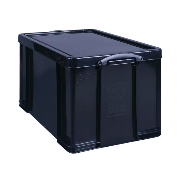 Really Useful Black 84 Litre Recycled Storage Box - 84BKR