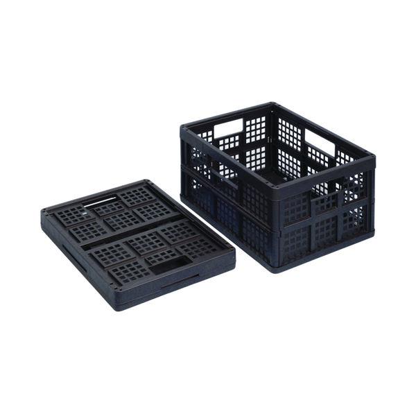Really Useful Black 32 Litre Plastic Folding Boxes, Pack of 3 - 32FBBK