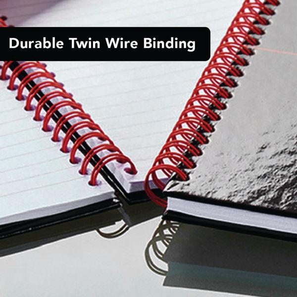 Black n' Red A4 Hardback Wirebound Notebooks, Pack of 5 + 2 FREE - 400116295
