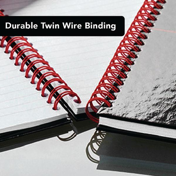 Black n' Red A4 Hardback Wirebound Notebooks, Pack of 2 - 400155309