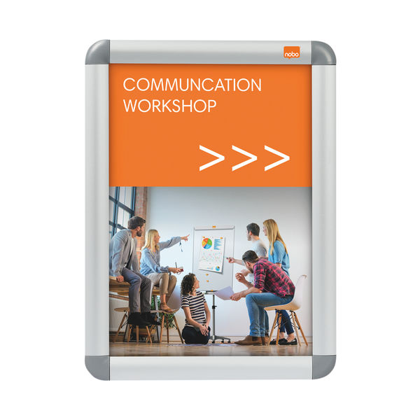 Nobo Premium Plus A4 Poster Frame Sign Holder with Snap Frame 1902214
