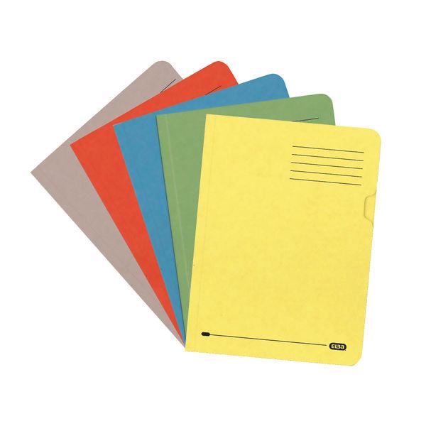 Elba Square Cut Folder Lightweight 180gsm A4 Buff 100090117