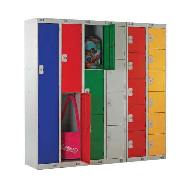 Two Compartment D450mm Dark Grey Locker - MC00045
