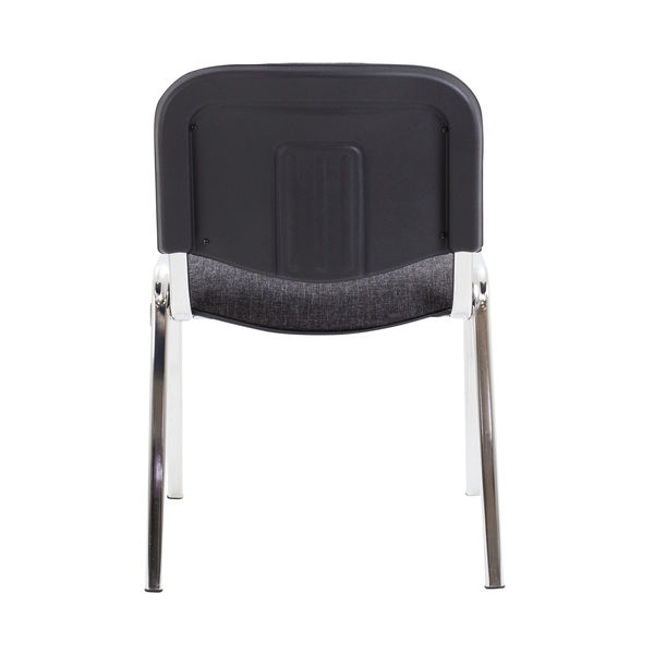 First Ultra Charcoal/Chrome Multipurpose Stacker Chair - KF74894