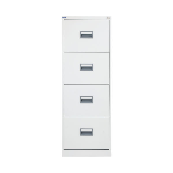 Talos 1300mm White 4 Drawer Filing Cabinet