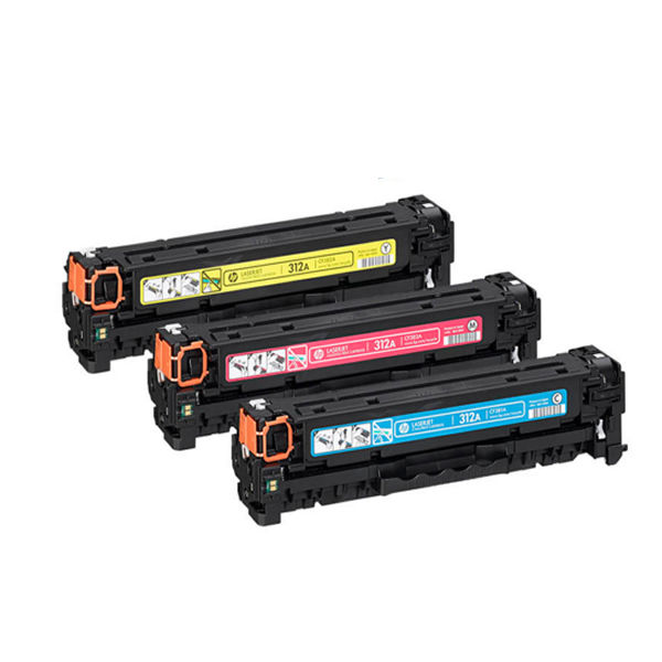 HP 312A Tri Colour Laserjet Toner Cartridge (Pack of 3) CF440AM