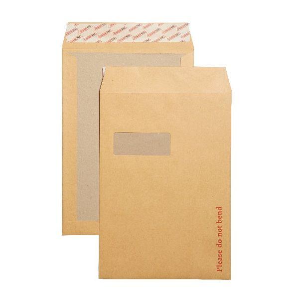 Plus Fabric C4 Board Back Envelopes White Window P/S 130Gsm 324x229mm   B26526