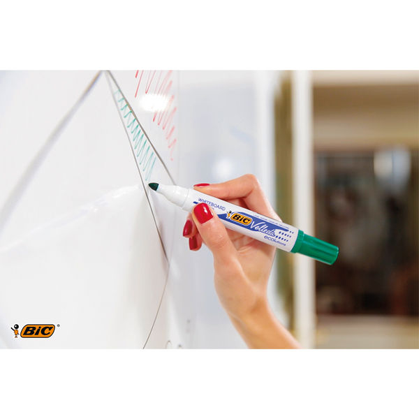 BIC Green Velleda Whiteboard Markers, Pack of 12 - 1199170102