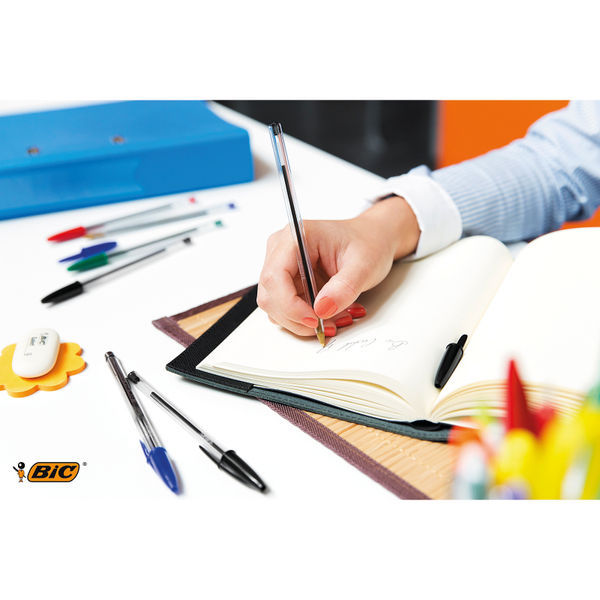 Bic Cristal Medium Black Ballpoint Pens (Pack of 50) - 8373631