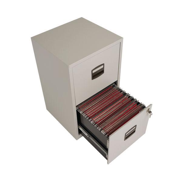 Bisley 672mm Goose Grey Home 2 Drawer Filing Cabinet - PFA2-87