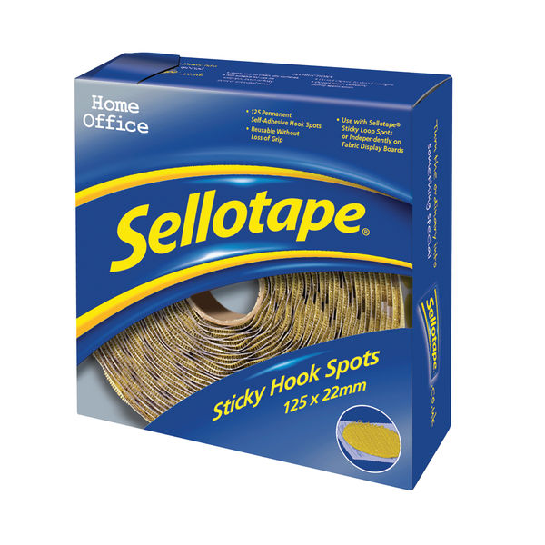 Sellotape Hook Spots (Pack Of 125)   783882