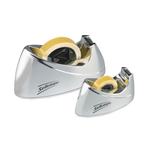 Sellotape Chrome Dispenser Small 504045