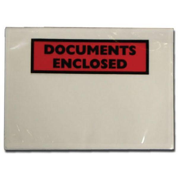 Tenza A6 Document Enclosure Labels Pack Of 100 PLE-DOC-A6-1