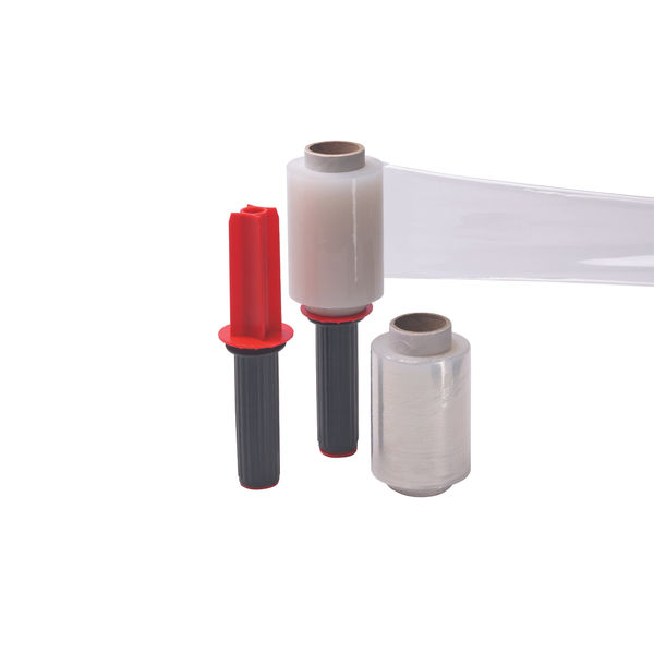 Marland Mini Hand Stretch Wrap Dispenser And 6 Rolls Clear
