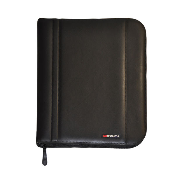 Monolith Folio Case Zipped Black Each 2754
