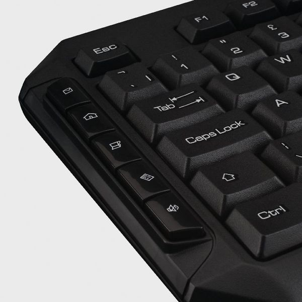 Q-Connect Black Wireless Keyboard and Mouse - KF15397