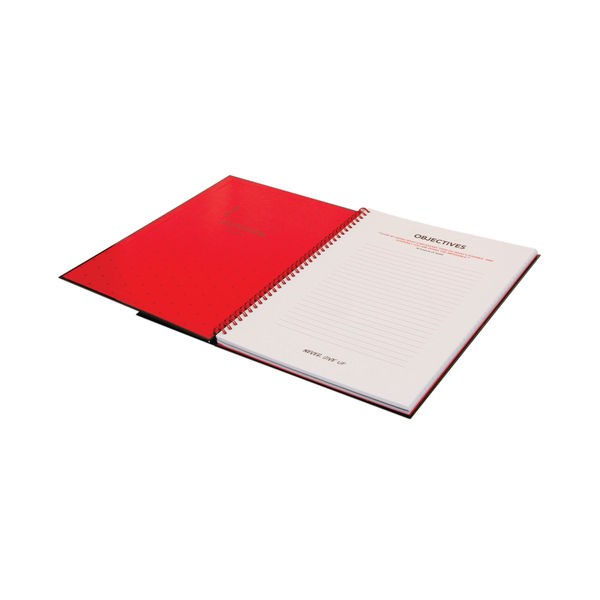 Black n' Red Recycled Ruled Wirebound Hardback Notebook A5 (Pack of 5) 846350962