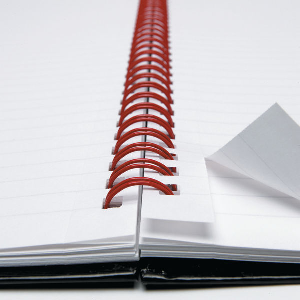 Black n' Red Ruled Perforated Wirebound Hardback Notebook A4 (Pack of 5) 100102248