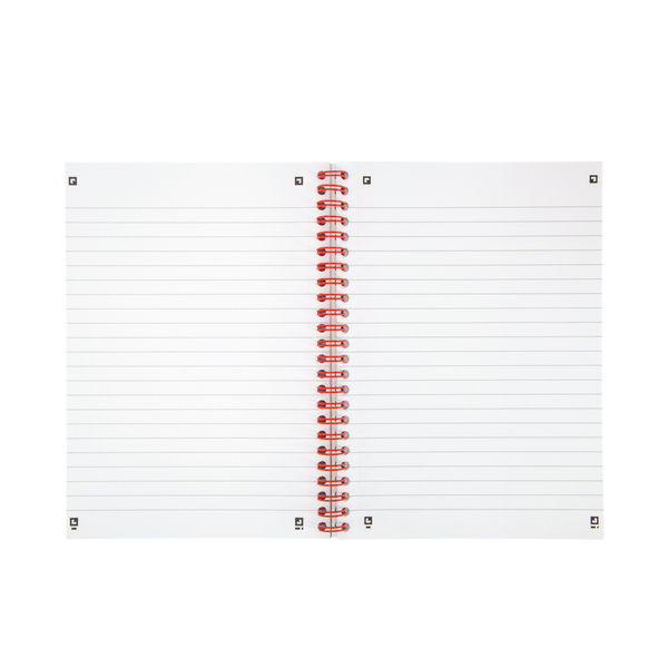 Black n' Red A5 Soft Cover Wirebound Ruled Notebooks - Pack of 10 - D66369