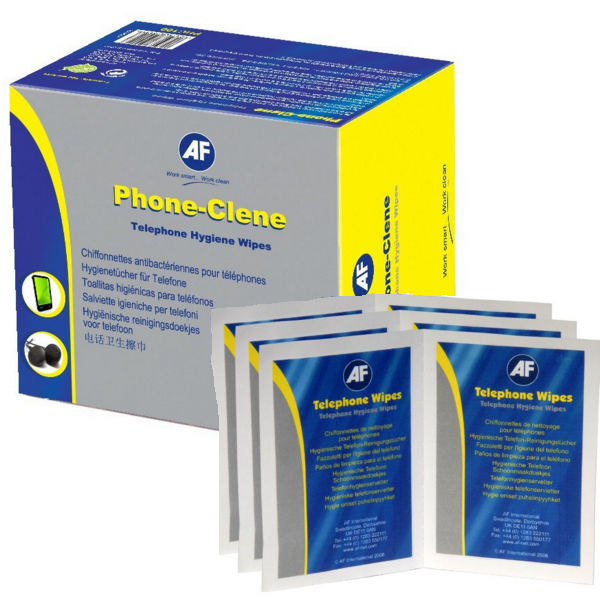 AF Phone-Clene Wet Wipes, Pack of 100 Wipes - APHC100