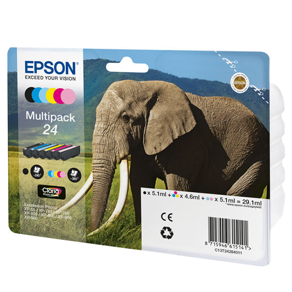 Epson 24 Black and Colour Ink Multipack - C13T24284011