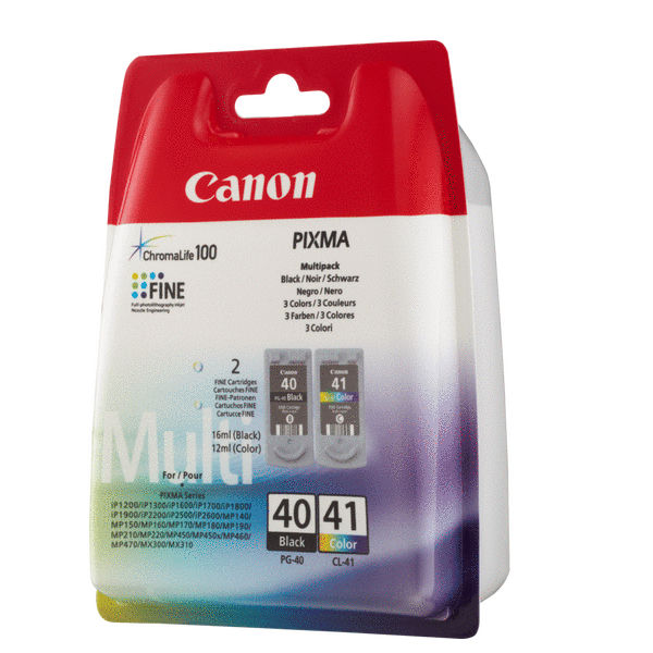 Canon PG-40 and CL-41 Black / Colour Ink Cartridge Multipack - 0615B036AA
