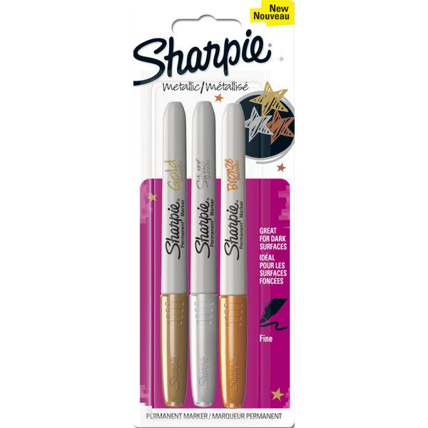 Sharpie Metallic Fine Permanent Marker Pens (Pack of 3) 1849114