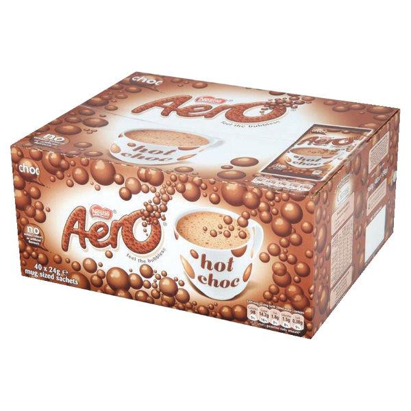 Nestle Aero Instant Hot Chocolate Sachets, 24g, Pack of 40 - 12203209